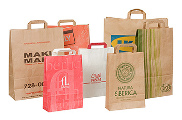 Заказать бумажные пакеты с печатью логотипа